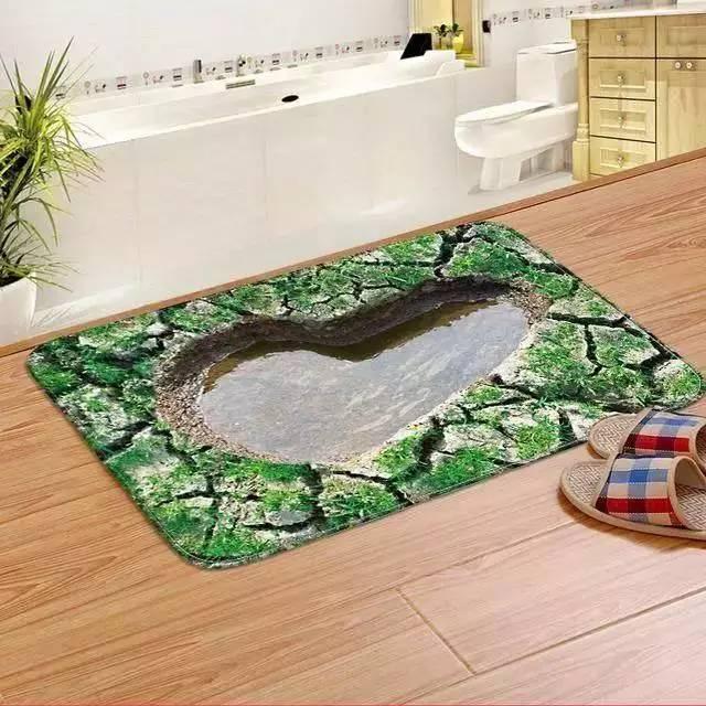 小小老婆我只要你_老婆给卫生间铺了一个3D地垫,儿子每次上厕所都要抱才敢去 ...